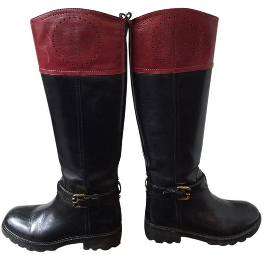 Preload https://item4.tradesy.com/images/tory-burch-black-and-maroon-leather-daniela-riding-bootsbooties-size-us-65-regular-m-b-1995123-0-0.jpg?width=440&height=440