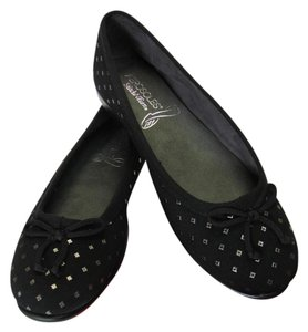 Aerosoles Cushioned Footbed Size 9.00 M Black, Gold Flats