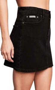 Calvin Klein Denim Mini Skirt Black