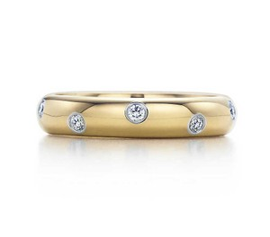 Tiffany & Co. Tiffany & Co. Etoile Yellow Gold Diamond Ring, Size 4.5