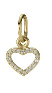 PANDORA Pandora Be My Valentine 14kGold Diamond Heart Charm 350136D Retired