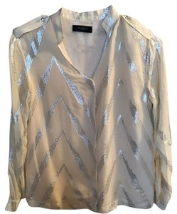 Selected Femme Brownthomas Silver Top White and metallic