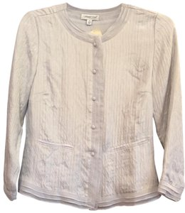 Coldwater Creek Silk Top Pale Gray