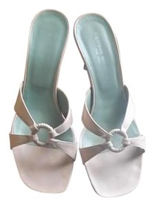 Sigerson Morrison Pink Backless Leather pale pink Sandals