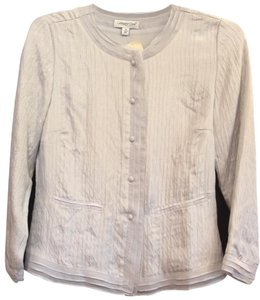 Coldwater Creek Silk Top Pale Gray, Silver