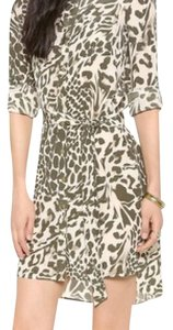 Diane von Furstenberg short dress Green leopard Print on Tradesy