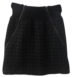 Theory Mini Skirt Black and grey