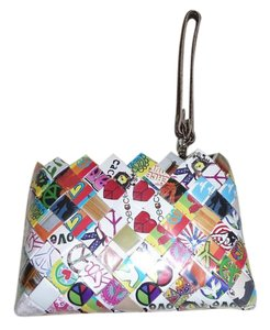 Nahui Ollin Wristlet in Multi-Colored; Red, Blue, White, Pink, Purple, Green