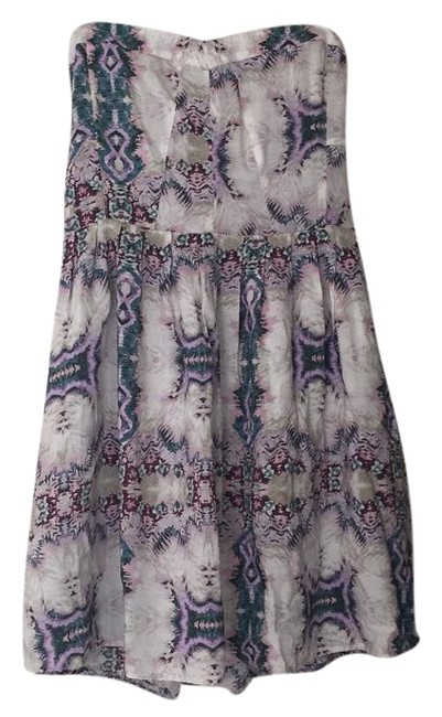 Item - Purple Teal Lavender Grey Taupe Urban Outfitters Mini Short Casual Dress Size 4 (S)