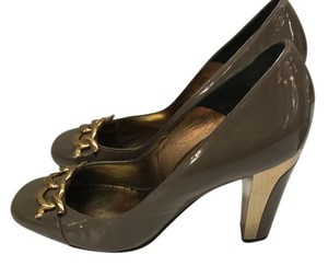 Barbara Bui Gold and Brown Wedges