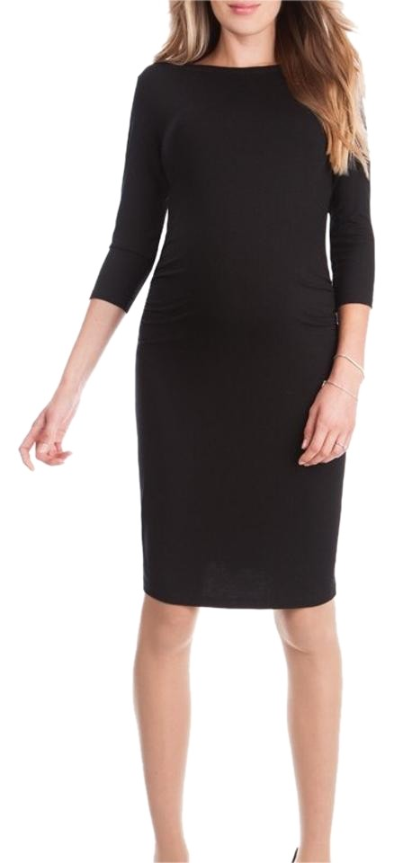 f002b56787a Séraphine Black Shirt Maternity Dress Image 0 ...