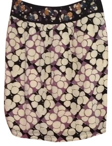 Floreat from Anthropologie Skirt White, black, purple with gold accents