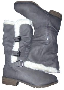 Other Faux Fur Winter White grey Boots