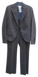 René Lezard Charcoal Cotton 38 Blazer/36 Pant