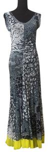 grey, black, yellow Maxi Dress by Fuzzi