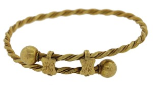 Other 1890s Antique Victorian 18k Yellow Gold Engraved Braided Bracelet