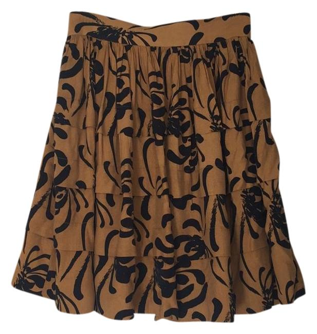 Item - Gold and Black Skirt Size 2 (XS, 26)