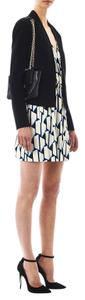 Diane von Furstenberg short dress Blue/white Silk-jersey V-neck Sleeveless on Tradesy