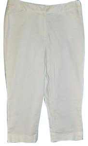 Rafaella Pants Cropped Nautical Stretch Pants Capris White