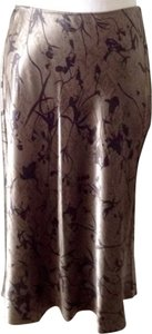 DKNY Silk Tulip Shape Skirt Bronze