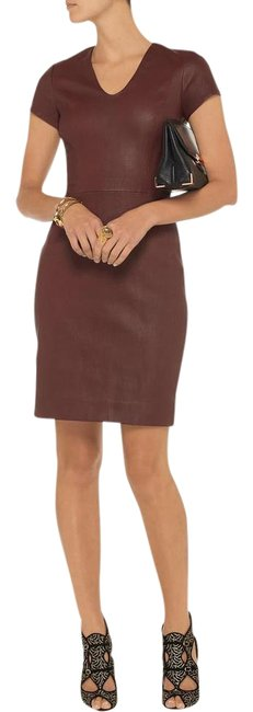 Item - Cherry Brown Leather Teala Mid-length Formal Dress Size 10 (M)