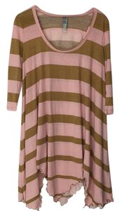 Free People short dress Pink and gold on Tradesy