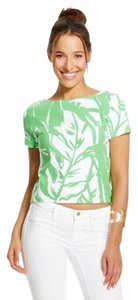 Lilly Pulitzer Top Green, White