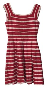 Max Studio short dress Red and cream on Tradesy