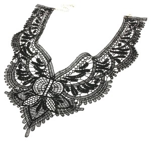 Black Lace Choker Bib Victorian Necklace