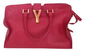 Saint Laurent Cabas Mini Satchel in Red