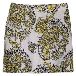 Ann Taylor Mini Skirt White, yellow, black, grey