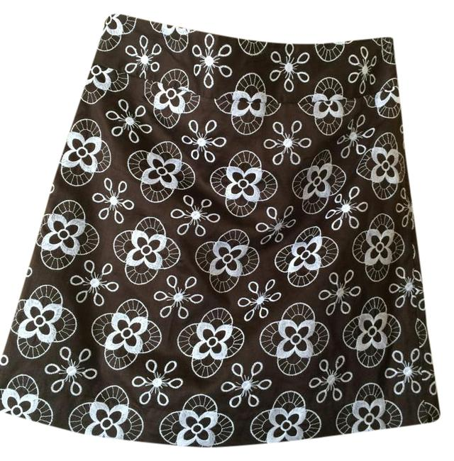 Item - Brown White Skirt Size Petite 0 (XXS)