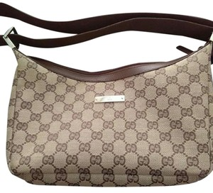 Gucci Leather Canvas Cross Body Bag