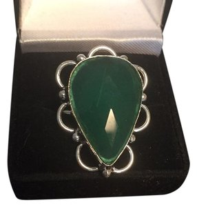 Other Large Green Onyx Cocktail Ring