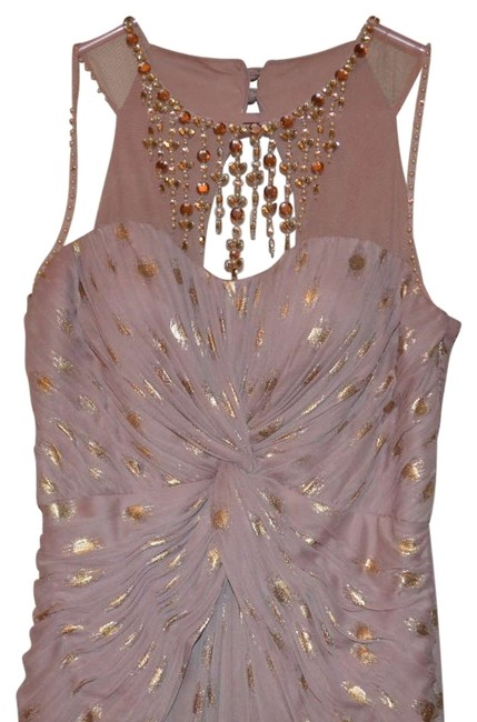 Preload https://item1.tradesy.com/images/adrianna-papell-pink-metallicgold-dots-studded-polka-dot-long-formal-dress-size-6-s-199525-0-0.jpg?width=400&height=650