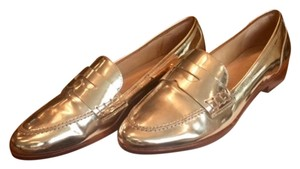 SCHUTZ Loafer Gold Metallic Flats