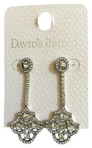David's Bridal Fan Gatsby Crystal Earrings