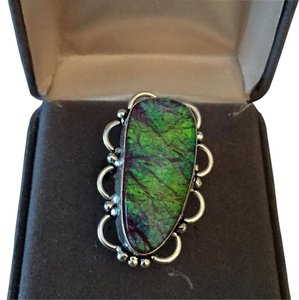 Other Boho Sterling Silver .925 Australian Opal Ring