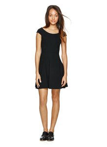 Talula short dress black Fitted Fit-and-flare Cap Sleeves on Tradesy