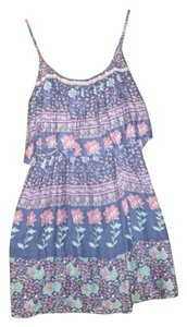 Forever 21 short dress blue multi Summer Floral Flowy Lined on Tradesy