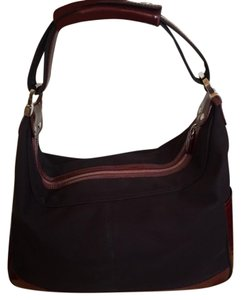 Tod's Patent Leather Nylon Shoulder Bag