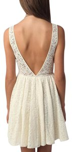 Pins and Needles Urban Outfitters Open Back Lace Fit Flare Dress