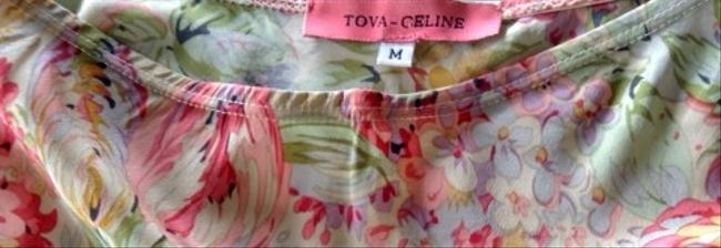 Tova-Celine Bias Shape Silk Skirt Multicolored