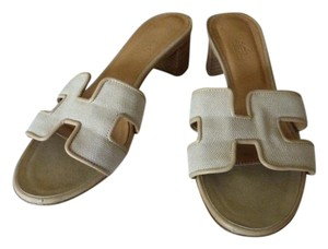 Herms TAN/ BEIGE Sandals