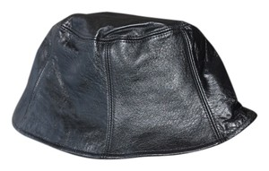 Wilsons Leather Wilson Black Leather Hat NWT Size S/M