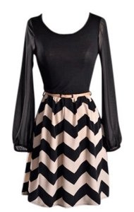 Other short dress Black/Taupe on Tradesy