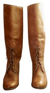 Ralph Lauren Leather Knee High Golden brown Boots