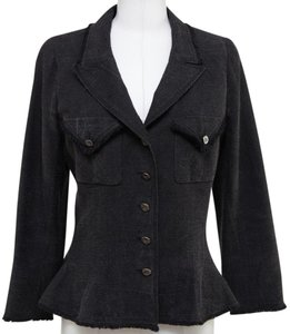 Chanel Charcoal Grey Blazer