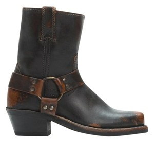Frye Harness Distressed Whiskey Boots