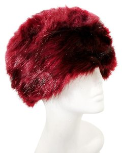 Other Chic Warm Burgundy Fur Winter Hat